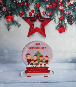 Our Grandchildren Snow Globe Standing Plaque